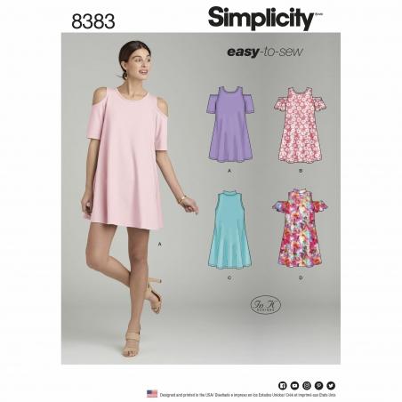 simplicity cold shoulder pattern 8383 envelope