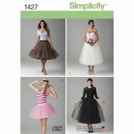simplicity skirts pants pattern 1427 envelope