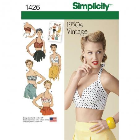 1426 simplicity tops vests pattern 1426 envelope f