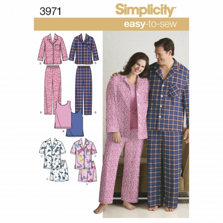 simplicity unisex scrubs pattern 3971 envelope