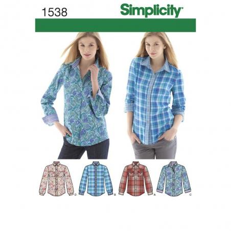 1538 simplicity tops vests pattern 1538 envelope f