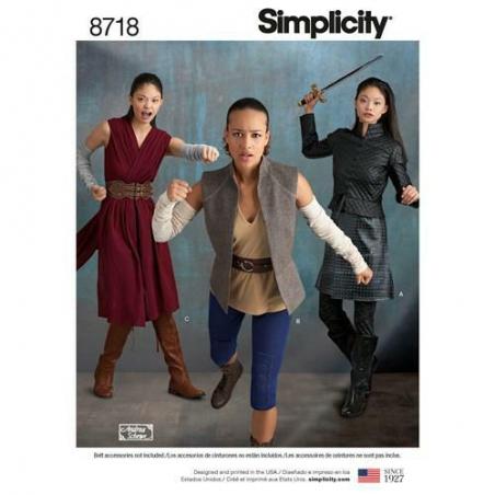 8 simplicity women warrior costumes pattern 87