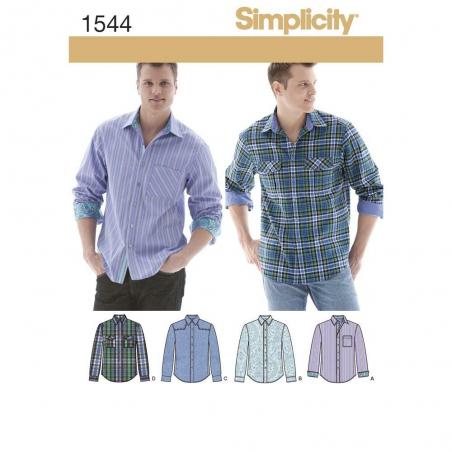 1544 simplicity men pattern 1544 envelope front