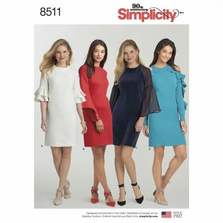 simplicity shift dress pattern 8511 envelope f