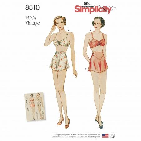 4simplicity vintage 1930s bra panties brassier