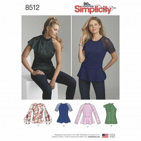 simplicity peplum top pattern 8512 envelope fr