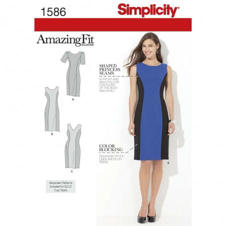 1586 simplicity dresses pattern 1586 envelope fron