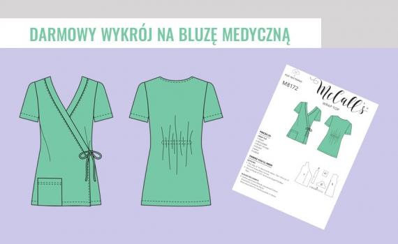 Darmowy wykrój na bluzę medyczną