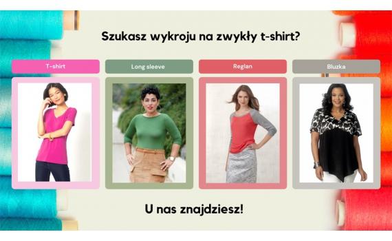 Wybieramy wykrój na t-shirt - szycie koszulki nigdy nie było tak łatwe!